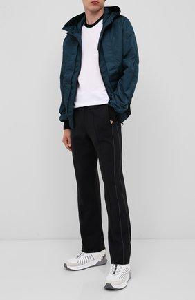 Мужской брюки CROW'S EYE черного цвета, арт. LE 56 | Фото 2