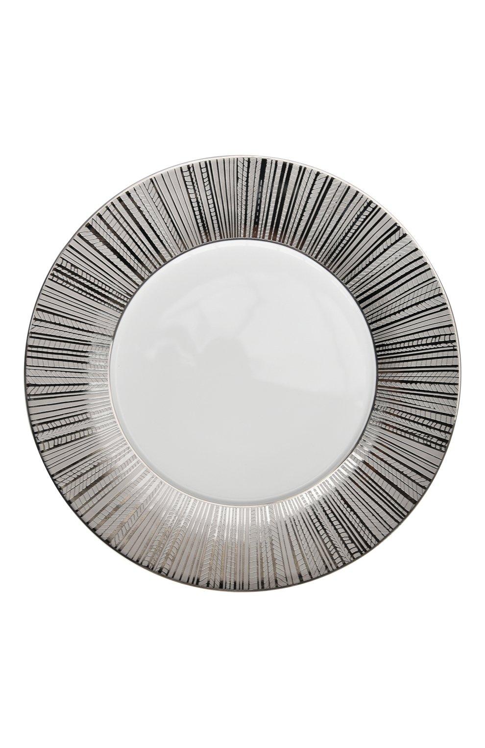 Мужского тарелка сервировочная silva  BERNARDAUD серебряного цвета, арт. 1853/2134 | Фото 1