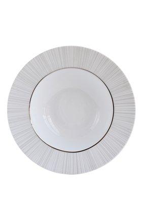 Тарелка суповая silva  BERNARDAUD серебряного цвета, арт. 1853/21896 | Фото 1 (Ограничения доставки: fragile-2)