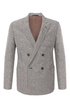 Мужской шерстяной пиджак GIORGIO ARMANI светло-коричневого цвета, арт. 8WGGG02F/T01XM | Фото 1