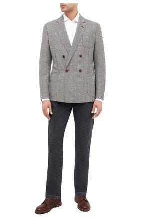 Мужской шерстяной пиджак GIORGIO ARMANI светло-коричневого цвета, арт. 8WGGG02F/T01XM | Фото 2