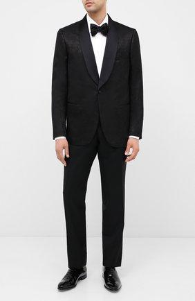 Мужской шерстяные брюки ZILLI черного цвета, арт. M0U-B0ST0-60290/0001 | Фото 2