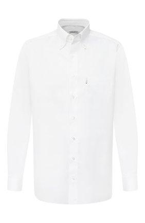 Мужская хлопковая сорочка ZILLI белого цвета, арт. MFU-10715-0299/0010 | Фото 1