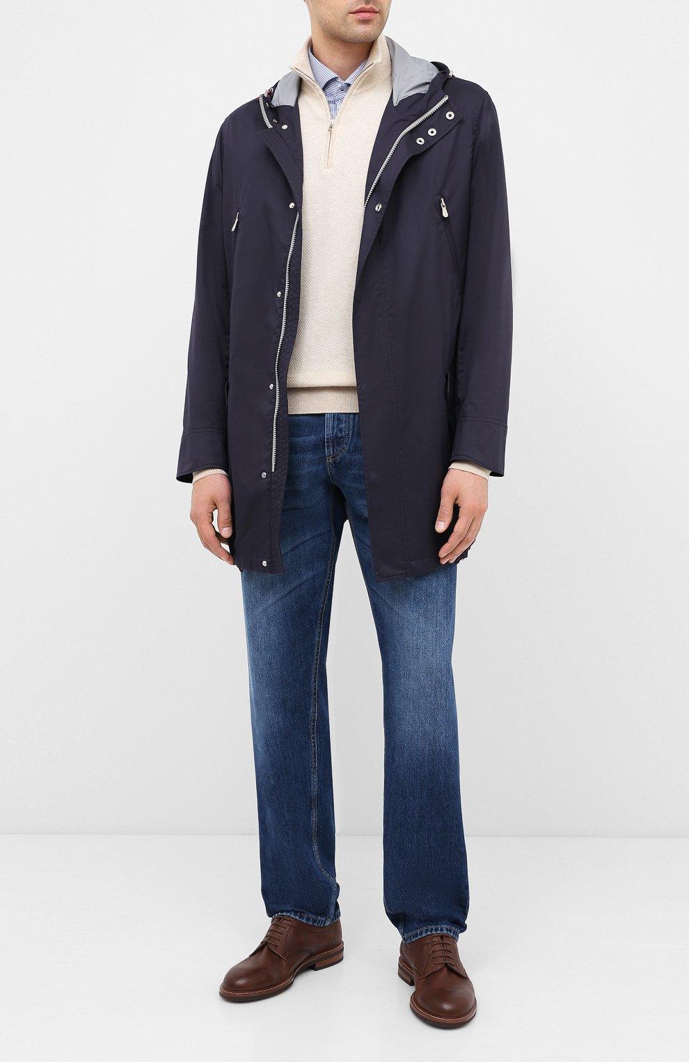 Мужские джинсы BRUNELLO CUCINELLI синего цвета, арт. ME228D2220 | Фото 2