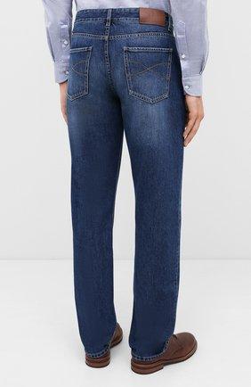 Мужские джинсы BRUNELLO CUCINELLI синего цвета, арт. ME228D2220 | Фото 4