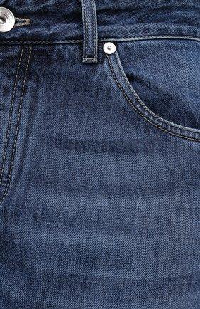 Мужские джинсы BRUNELLO CUCINELLI синего цвета, арт. ME228D2220 | Фото 5