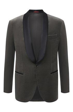 Мужской хлопковый пиджак BRUNELLO CUCINELLI серого цвета, арт. ML479GS04 | Фото 1