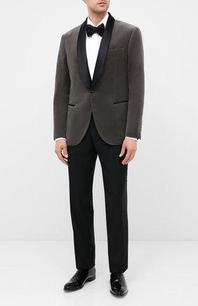 Мужской хлопковый пиджак BRUNELLO CUCINELLI серого цвета, арт. ML479GS04 | Фото 2