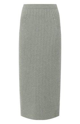 Женская кашемировая юбка LORO PIANA светло-зеленого цвета, арт. FAL2866 | Фото 1