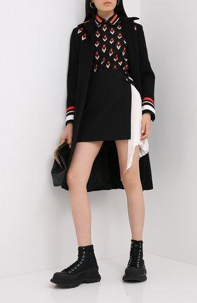 Женское шерстяное пальто VALENTINO черного цвета, арт. UB3CA4T515E   Фото 2