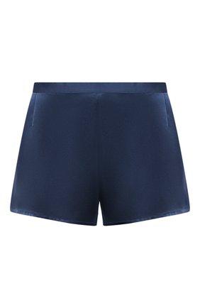 Женские шелковые мини-шорты LA PERLA синего цвета, арт. 0020290 | Фото 1
