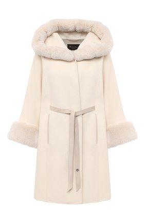 Женское кашемировое пальто LORO PIANA бежевого цвета, арт. FAG4621 | Фото 1