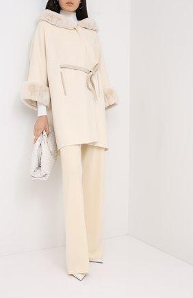 Женское кашемировое пальто LORO PIANA бежевого цвета, арт. FAG4621 | Фото 2