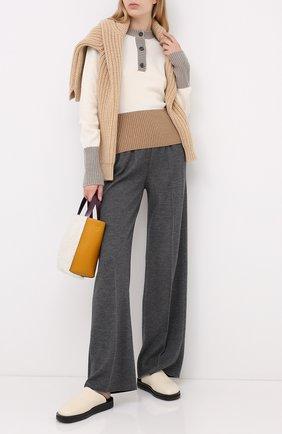Женские брюки из кашемира и шелка LORO PIANA серого цвета, арт. FAL2062 | Фото 2