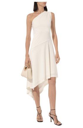Женские кожаные босоножки bv line BOTTEGA VENETA темно-коричневого цвета, арт. 630178/VBP10 | Фото 2
