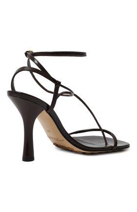 Женские кожаные босоножки bv line BOTTEGA VENETA темно-коричневого цвета, арт. 630178/VBP10 | Фото 5