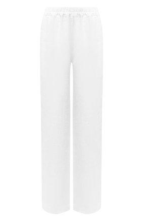 Женские льняные брюки LA FABBRICA DEL LINO белого цвета, арт. 00105 | Фото 1