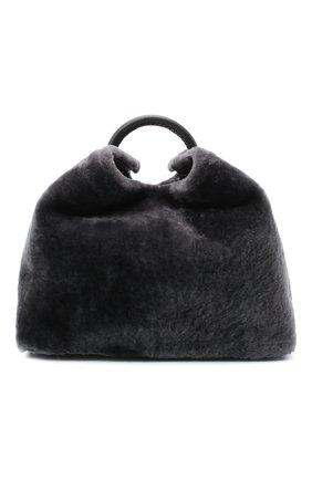 Женская сумка raisin ELLEME темно-серого цвета, арт. RAISIN/SHEARLING | Фото 1