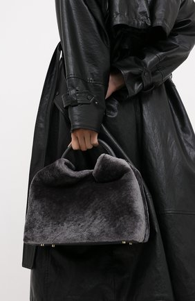 Женская сумка raisin ELLEME темно-серого цвета, арт. RAISIN/SHEARLING | Фото 2