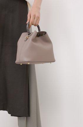 Женская сумка boazi ELLEME серого цвета, арт. BA0ZI/LEATHER | Фото 2