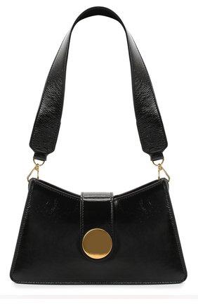 Женская сумка baguette ELLEME черного цвета, арт. BAGUETTE/PATENT LEATHER | Фото 1