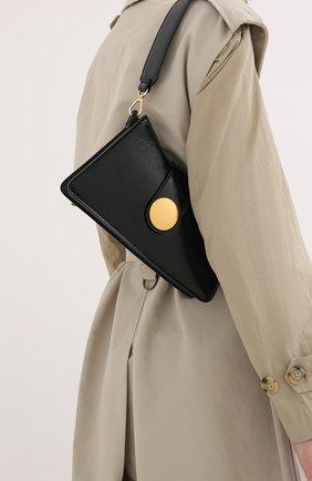 Женская сумка baguette ELLEME черного цвета, арт. BAGUETTE/PATENT LEATHER | Фото 2