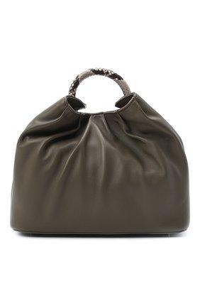 Женская сумка raisin small ELLEME темно-серого цвета, арт. LARGE DUMPLING/LAMBSKIN/C0W LEATHER | Фото 1
