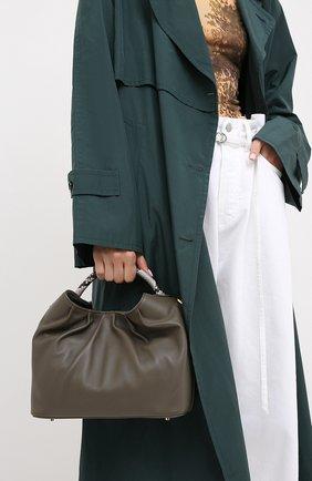 Женская сумка raisin small ELLEME темно-серого цвета, арт. LARGE DUMPLING/LAMBSKIN/C0W LEATHER | Фото 2