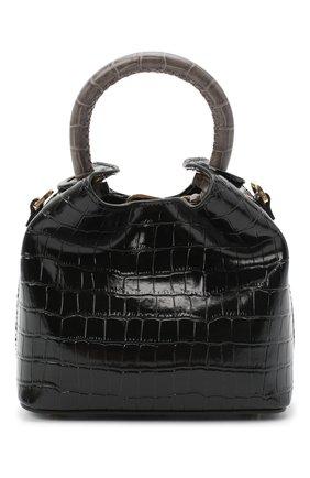 Женская сумка madeleine small ELLEME черного цвета, арт. MADELEINE/CR0C0 PRINT LEATHER | Фото 1