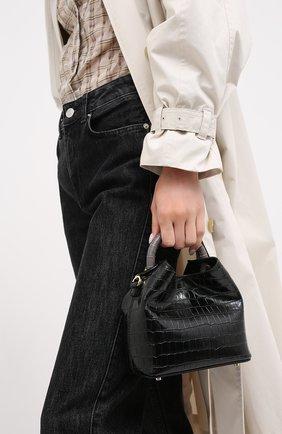 Женская сумка madeleine small ELLEME черного цвета, арт. MADELEINE/CR0C0 PRINT LEATHER | Фото 2