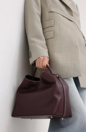 Женская сумка raisin ELLEME бордового цвета, арт. RAISIN/LEATHER | Фото 2
