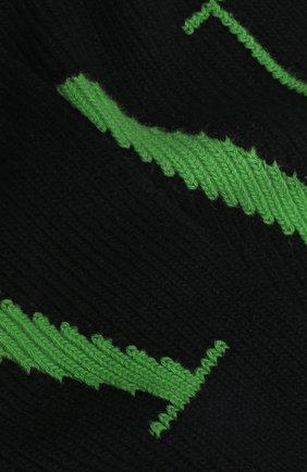 Мужской шарф из шерсти и кашемира valentino garavani VALENTINO черного цвета, арт. UY2ET00A/HIF | Фото 2