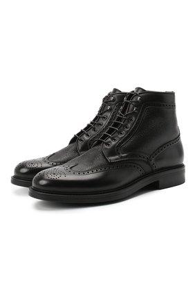 Мужские кожаные ботинки W.GIBBS черного цвета, арт. 3169011/1514 | Фото 1