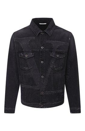 Мужская джинсовая куртка VALENTINO черного цвета, арт. UV3DC01J6H4 | Фото 1