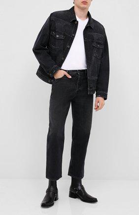 Мужская джинсовая куртка VALENTINO черного цвета, арт. UV3DC01J6H4 | Фото 2