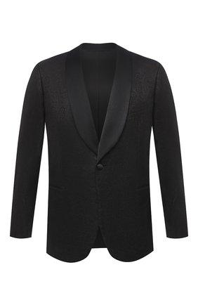 Мужской пиджак из шерсти и шелка ZILLI черного цвета, арт. MNU-L7110-18546/0001 | Фото 1