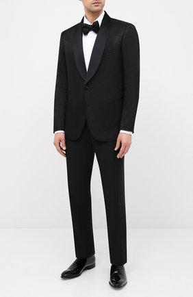 Мужской пиджак из шерсти и шелка ZILLI черного цвета, арт. MNU-L7110-18546/0001 | Фото 2