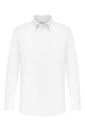 Мужская хлопковая сорочка ZILLI белого цвета, арт. MFU-10715-0299/0006 | Фото 1