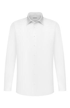 Мужская хлопковая сорочка ZILLI белого цвета, арт. MFU-10715-0299/0005   Фото 1