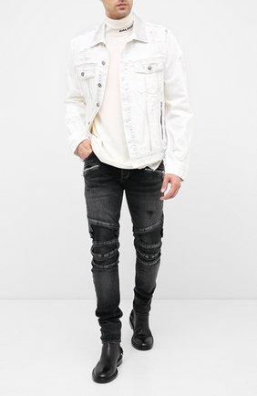 Мужской шерстяной свитер BALMAIN белого цвета, арт. UH13410/K010 | Фото 2