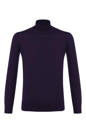 Мужской шерстяная водолазка LORO PIANA фиолетового цвета, арт. FAI8084 | Фото 1