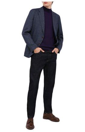 Мужской шерстяная водолазка LORO PIANA фиолетового цвета, арт. FAI8084 | Фото 2