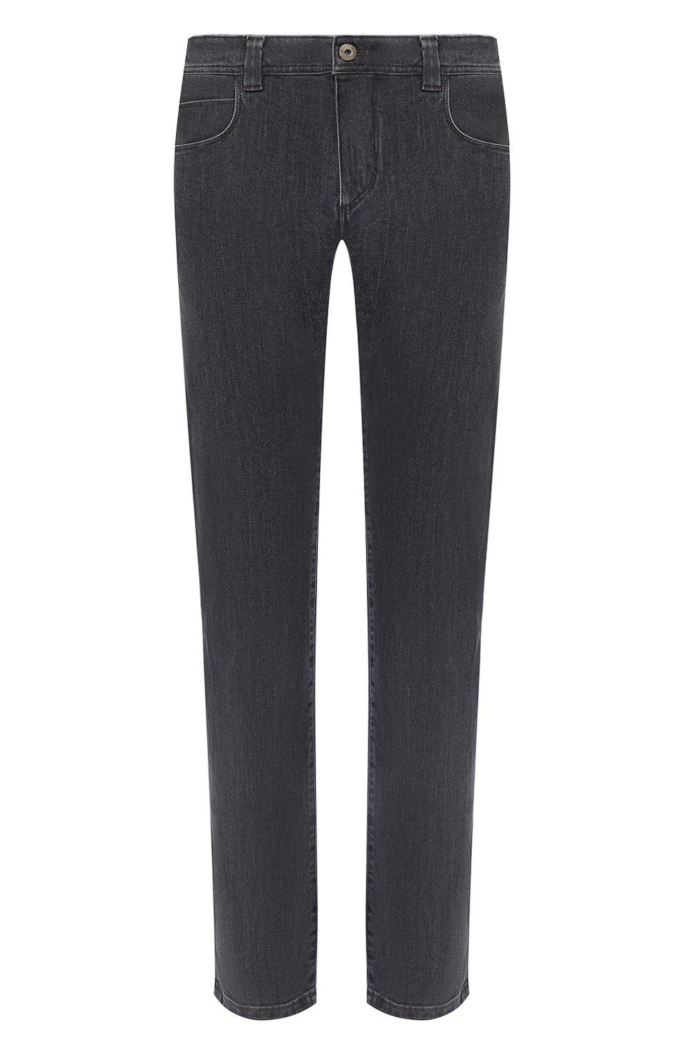 Мужские джинсы LORO PIANA серого цвета, арт. FAI7880 | Фото 1