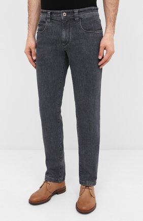 Мужские джинсы LORO PIANA серого цвета, арт. FAI7880 | Фото 3
