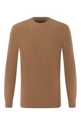 Мужской кашемировый свитер LORO PIANA бежевого цвета, арт. FAL2352 | Фото 1