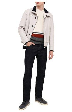 Мужской кашемировый свитер LORO PIANA белого цвета, арт. FAL3171 | Фото 2
