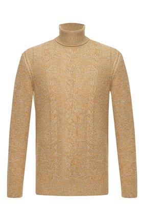 Мужской кашемировый свитер LORO PIANA желтого цвета, арт. FAL2788 | Фото 1