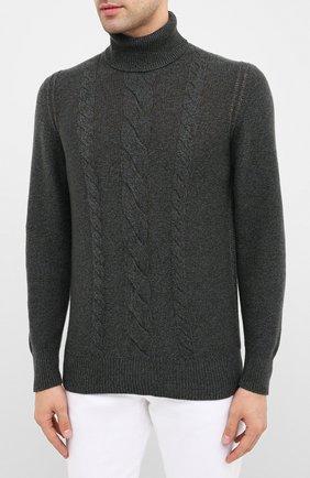 Мужской кашемировый свитер LORO PIANA синего цвета, арт. FAL2788   Фото 3