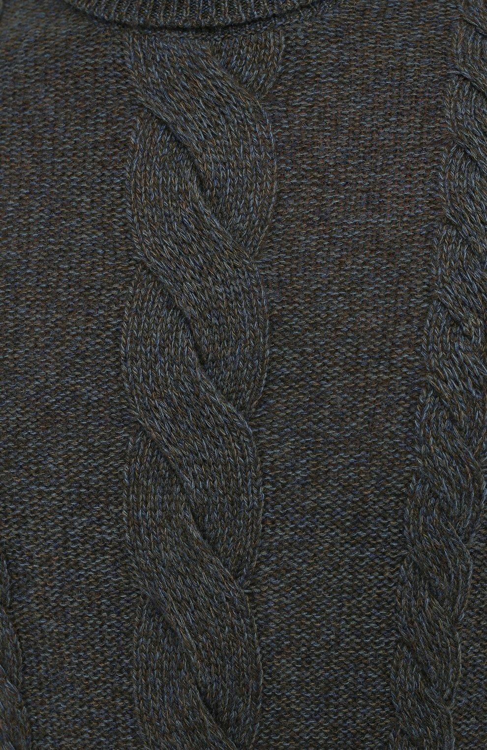 Мужской кашемировый свитер LORO PIANA синего цвета, арт. FAL2788   Фото 5