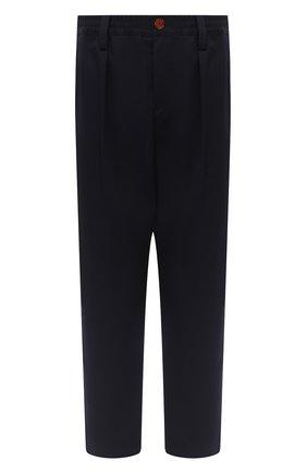 Мужской брюки MARNI темно-синего цвета, арт. PUMU0017A0/S49734   Фото 1